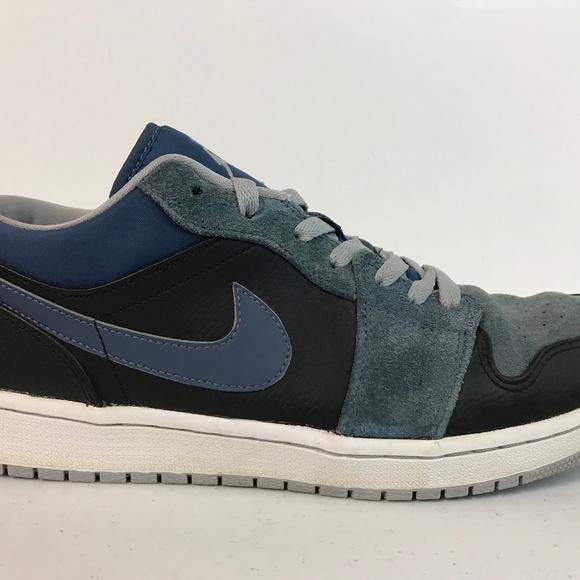Nike Air Jordan 1 Low Mens Size 12 Black/Wolf Grey